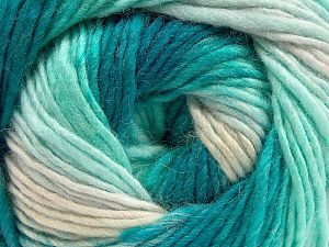 Fiber Content 70% Acrylic, 30% Wool, Turquoise Shades, Brand ICE, Yarn Thickness 3 Light  DK, Light, Worsted, fnt2-58141