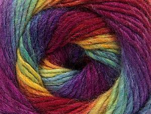 Fiber Content 70% Acrylic, 30% Wool, Rainbow, Brand ICE, Yarn Thickness 3 Light  DK, Light, Worsted, fnt2-58146