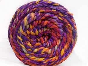 Fiber Content 70% Acrylic, 30% Wool, Yellow, Red, Purple, Orange, Brand ICE, Yarn Thickness 6 SuperBulky  Bulky, Roving, fnt2-58153
