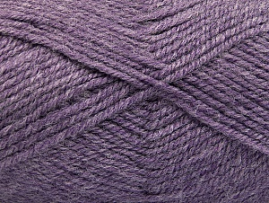 Fiber Content 50% Wool, 50% Acrylic, Lilac Melange, Brand ICE, Yarn Thickness 4 Medium  Worsted, Afghan, Aran, fnt2-58228