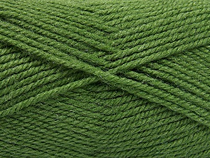Fiber Content 50% Wool, 50% Acrylic, Brand ICE, Green, Yarn Thickness 4 Medium  Worsted, Afghan, Aran, fnt2-58384