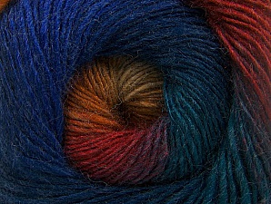 Fiber Content 60% Premium Acrylic, 20% Wool, 20% Alpaca, Teal, Red, Purple, Orange, Brand ICE, Blue, fnt2-58399