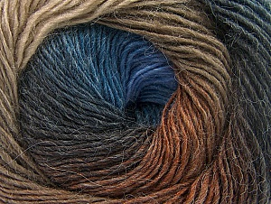 Fiber Content 60% Premium Acrylic, 20% Alpaca, 20% Wool, Brand ICE, Brown Shades, Blue Shades, Yarn Thickness 2 Fine  Sport, Baby, fnt2-58419