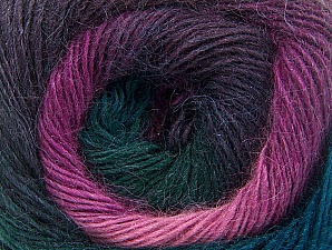 Fiber Content 60% Premium Acrylic, 20% Alpaca, 20% Wool, Teal, Pink, Maroon, Lilac, Brand ICE, Green, Yarn Thickness 2 Fine  Sport, Baby, fnt2-58421
