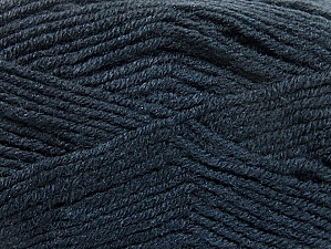 Fiber Content 50% Wool, 50% Acrylic, Brand ICE, Anthracite Black, Yarn Thickness 4 Medium  Worsted, Afghan, Aran, fnt2-58560
