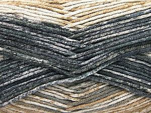 Fiber Content 50% Premium Acrylic, 50% Cotton, Brand ICE, Grey, Cream, Camel, Black, Yarn Thickness 2 Fine  Sport, Baby, fnt2-58686