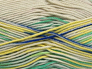 Fiber Content 100% Mercerised Cotton, Yellow, Brand ICE, Green Shades, Blue, Beige, Yarn Thickness 2 Fine  Sport, Baby, fnt2-58986