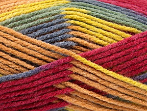 Fiber Content 80% Acrylic, 20% Polyamide, Yellow, Light Green, Brand ICE, Grey, Cafe Latte, Burgundy, Yarn Thickness 4 Medium  Worsted, Afghan, Aran, fnt2-58997