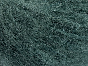 Fiber Content 70% Acrylic, 20% Mohair, 10% Wool, Brand ICE, Hunter Green, Yarn Thickness 3 Light  DK, Light, Worsted, fnt2-59088