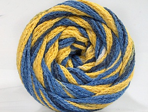 Fiber Content 50% Acrylic, 50% Polyamide, Yellow, White, Brand ICE, Blue Shades, Yarn Thickness 5 Bulky  Chunky, Craft, Rug, fnt2-59351