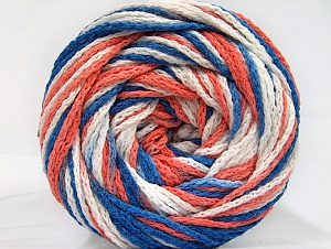 Fiber Content 50% Acrylic, 50% Polyamide, White, Salmon, Brand ICE, Blue, Yarn Thickness 5 Bulky  Chunky, Craft, Rug, fnt2-59355