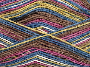 Fiber Content 75% Superwash Wool, 25% Polyamide, White, Orchid, Brand ICE, Green, Brown, Blue, Yarn Thickness 1 SuperFine  Sock, Fingering, Baby, fnt2-59496