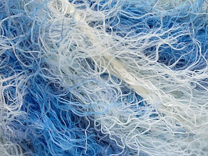 Fiber Content 40% Viscose, 30% Wool, 30% Polyamide, White, Brand ICE, Blue Shades, Yarn Thickness 5 Bulky  Chunky, Craft, Rug, fnt2-59578