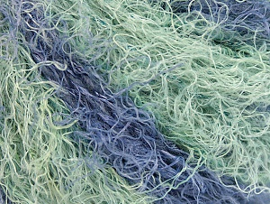 Fiber Content 40% Viscose, 30% Wool, 30% Polyamide, Mint Green, Lilac, Brand ICE, Yarn Thickness 5 Bulky  Chunky, Craft, Rug, fnt2-59595