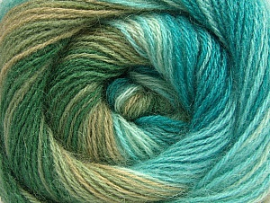 Fiber Content 60% Acrylic, 20% Angora, 20% Wool, Turquoise, Brand ICE, Green Shades, Yarn Thickness 2 Fine  Sport, Baby, fnt2-59757