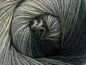 Fiber Content 70% Acrylic, 30% Merino Wool, Brand ICE, Grey Shades, Black, Yarn Thickness 2 Fine  Sport, Baby, fnt2-59768