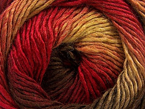Fiber Content 50% Acrylic, 50% Wool, Red, Brand ICE, Green, Brown Shades, Yarn Thickness 2 Fine  Sport, Baby, fnt2-59784