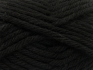 Fiber Content 100% Acrylic, Brand ICE, Black, Yarn Thickness 6 SuperBulky  Bulky, Roving, fnt2-59788