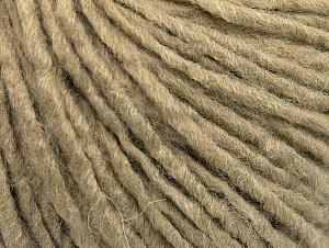 Fiber Content 50% Acrylic, 50% Wool, Brand ICE, Dark Beige, Yarn Thickness 4 Medium  Worsted, Afghan, Aran, fnt2-59804