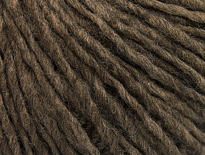 Fiber Content 50% Acrylic, 50% Wool, Brand ICE, Brown Melange, Yarn Thickness 4 Medium  Worsted, Afghan, Aran, fnt2-59807