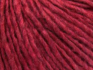 Fiber Content 50% Acrylic, 50% Wool, Brand ICE, Fuchsia Melange, Yarn Thickness 4 Medium  Worsted, Afghan, Aran, fnt2-59828