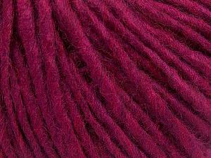 Fiber Content 50% Acrylic, 50% Wool, Brand ICE, Dark Fuchsia, Yarn Thickness 4 Medium  Worsted, Afghan, Aran, fnt2-59830