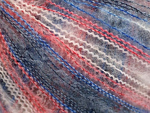 Fiber Content 37% Kid Mohair, 35% Acrylic, 28% Polyamide, White, Red, Brand ICE, Blue Shades, Yarn Thickness 1 SuperFine  Sock, Fingering, Baby, fnt2-59964