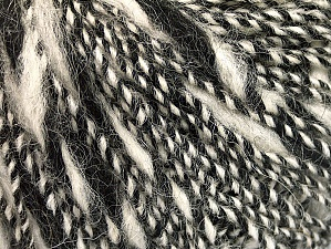 Fiber Content 40% Acrylic, 35% Wool, 25% Alpaca, White, Brand ICE, Black, Yarn Thickness 3 Light  DK, Light, Worsted, fnt2-60072