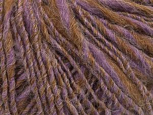 Fiber Content 40% Acrylic, 35% Wool, 25% Alpaca, Lilac, Light Brown, Brand ICE, Yarn Thickness 3 Light  DK, Light, Worsted, fnt2-60079