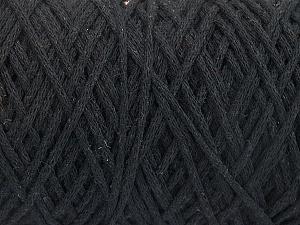 Fiber Content 100% Cotton, Brand ICE, Black, Yarn Thickness 4 Medium  Worsted, Afghan, Aran, fnt2-60142