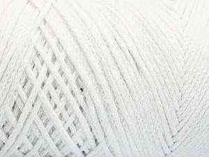 Fiber Content 100% Cotton, Optical White, Brand ICE, Yarn Thickness 4 Medium  Worsted, Afghan, Aran, fnt2-60143