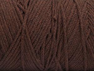 Fiber Content 100% Cotton, Brand ICE, Dark Brown, Yarn Thickness 4 Medium  Worsted, Afghan, Aran, fnt2-60147