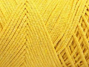 Fiber Content 100% Cotton, Yellow, Brand ICE, Yarn Thickness 4 Medium  Worsted, Afghan, Aran, fnt2-60166