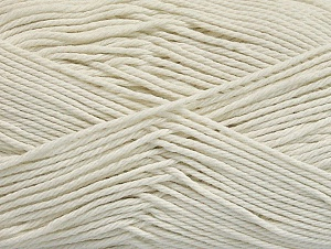 Baby cotton is a 100% premium giza cotton yarn exclusively made as a baby yarn. It is anti-bacterial and machine washable! Fiber Content 100% Giza Cotton, Off White, Brand ICE, Yarn Thickness 3 Light  DK, Light, Worsted, fnt2-60370