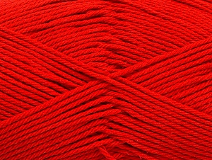 Baby cotton is a 100% premium giza cotton yarn exclusively made as a baby yarn. It is anti-bacterial and machine washable! Fiber Content 100% Giza Cotton, Red, Brand ICE, Yarn Thickness 3 Light  DK, Light, Worsted, fnt2-60372