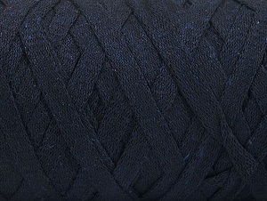 Fiber Content 100% Recycled Cotton, Brand ICE, Dark Navy, Yarn Thickness 6 SuperBulky  Bulky, Roving, fnt2-60399