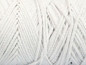 Fiber Content 100% Cotton, White, Brand ICE, Yarn Thickness 5 Bulky  Chunky, Craft, Rug, fnt2-60410