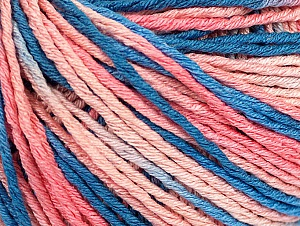 Fiber Content 100% Acrylic, Salmon Shades, Brand ICE, Blue Shades, Yarn Thickness 2 Fine  Sport, Baby, fnt2-60462