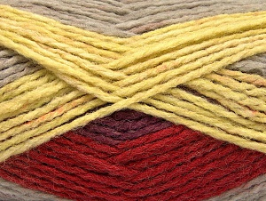Fiber Content 70% Acrylic, 30% Wool, Yellow, Brand ICE, Copper, Beige, Yarn Thickness 4 Medium  Worsted, Afghan, Aran, fnt2-60842