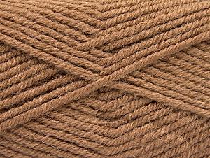Fiber Content 50% Acrylic, 25% Alpaca, 25% Wool, Brand ICE, Camel, Yarn Thickness 5 Bulky  Chunky, Craft, Rug, fnt2-60859