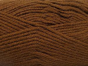 Fiber Content 50% Acrylic, 25% Wool, 25% Alpaca, Brand ICE, Brown, Yarn Thickness 5 Bulky  Chunky, Craft, Rug, fnt2-60860