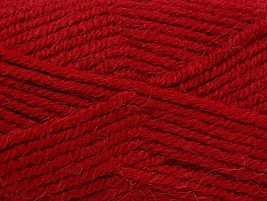 Fiber Content 50% Acrylic, 25% Wool, 25% Alpaca, Red, Brand ICE, Yarn Thickness 5 Bulky  Chunky, Craft, Rug, fnt2-60862
