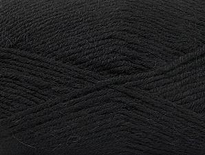 Fiber Content 50% Acrylic, 25% Wool, 25% Alpaca, Brand ICE, Black, Yarn Thickness 3 Light  DK, Light, Worsted, fnt2-60889