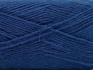 Fiber Content 50% Acrylic, 25% Wool, 25% Alpaca, Brand ICE, Blue, Yarn Thickness 3 Light  DK, Light, Worsted, fnt2-60901