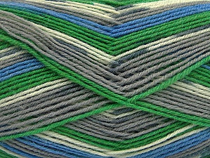 Fiber Content 75% Superwash Wool, 25% Polyamide, White, Brand ICE, Grey Shades, Green, Blue, Yarn Thickness 1 SuperFine  Sock, Fingering, Baby, fnt2-60904