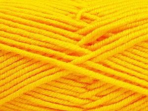 Fiber Content 100% Acrylic, Yellow, Brand ICE, Yarn Thickness 5 Bulky  Chunky, Craft, Rug, fnt2-60924