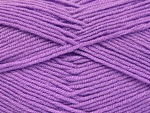 Fiber Content 100% Acrylic, Lilac, Brand ICE, Yarn Thickness 4 Medium  Worsted, Afghan, Aran, fnt2-60975