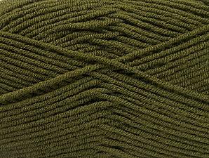 Fiber Content 100% Acrylic, Brand ICE, Dark Green, Yarn Thickness 4 Medium  Worsted, Afghan, Aran, fnt2-60981