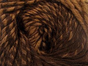 Fiber Content 75% Premium Acrylic, 25% Wool, Brand ICE, Brown Shades, Yarn Thickness 4 Medium  Worsted, Afghan, Aran, fnt2-61018