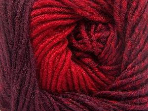 Fiber Content 75% Premium Acrylic, 25% Wool, Red, Maroon, Brand ICE, Yarn Thickness 4 Medium  Worsted, Afghan, Aran, fnt2-61022